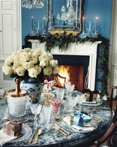 My East Hampton home decorated for the Holidays.