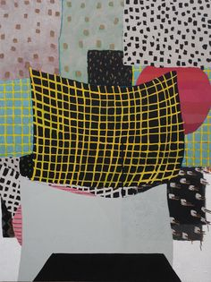 """Allison Miller - Expanding Room, 2011.  Acrylic, oil and dirt/canvas, 72"""" by 54""""."""