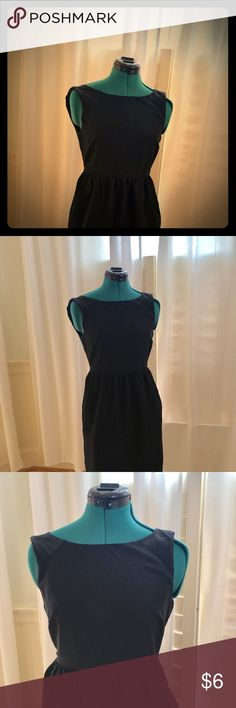 J Crew Little Black Dress Dress it up or dress it down. Can feel formal or casual. Back zipper, ruffles out a bit at waist for those who want to add some boom to the hip area for more shape. Great condition! J. Crew Dresses Midi