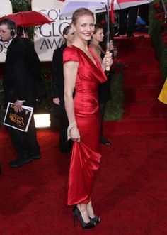 Cameron Diaz ravishing in red at The 67th Annual Golden Globes