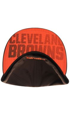 a032c59a727 NFL Men s Cleveland Browns New Era Brown Pop Flip 59FIFTY Fitted Hat