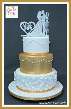 Wedding Cake by Crazy Cake - http://cakesdecor.com/cakes/288464-wedding-cake