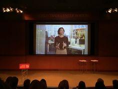 Robin Wilson on big screen at 2015 ASID Impact Summit, Boston Robin Wilson, Trade Centre, Boston, Big