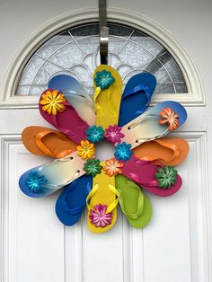 Handmade Shop, Etsy Handmade, Handmade Items, Handmade Gifts, Flip Flop Wreaths, Pinterest Diy, Door Wreath, Summer Wreath, Sell On Etsy