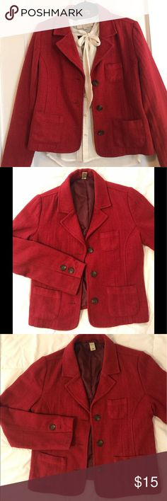Red Wool Tailored Blazer Excellent Used Condition. Jackets & Coats Blazers