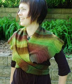 Free Knitting Pattern - Women's Shrugs, Wraps & Capes: Coquille Wrap
