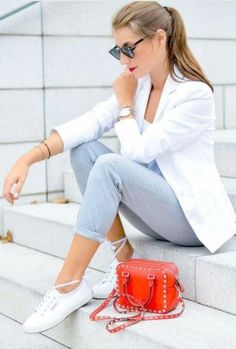 60 Casual Blazer Outfit for Women You Must Have - Casual Outfits Blazer Outfits Casual, Blazer Outfits For Women, Outfits Damen, Outfit Jeans, Classy Outfits, Trendy Outfits, Chic Outfits, Women Blazer, Popular Outfits