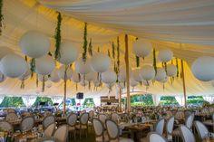 Paper Lantern | Wedding Reception  | Winery Wedding | True Event | http://www.trueevent.com http://www.stylemepretty.com/connecticut-weddings/north-stonington/2015/12/31/rustic-floral-filled-connecticut-winery-wedding/