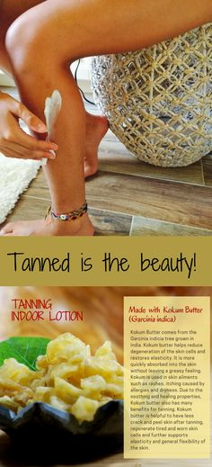 Glowing skin is always in. like CHAIR above Indoor Tanning Lotion, Cleanser For Combination Skin, How To Tan Faster, Green Tea Face, Kokum Butter, Anti Itch Cream, Natural Tan, Homemade Beauty, Skin Treatments