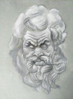 Marsias sculpture drawing
