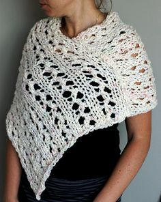 Sale Read to Ship Hand Knit Spring Summer Shawl by KnitPlayLove