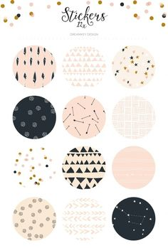 A Beautiful sticker sheet with pastel patterns.You get a sheet of 12 vinyl stickers with each a different design. Journal Stickers, Planner Stickers, Doodle Drawing, Bullet Journal Ideas Pages, Instagram Highlight Icons, Aesthetic Stickers, Cute Stickers, Free Printable Stickers, Round Stickers