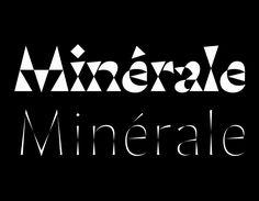 typo-minerale-huot-marchand Types Of Lettering, Lettering Design, Layout Design, Type Design, Graphic Design, Glyphs, Sans Serif, Typography Letters, Letterpress