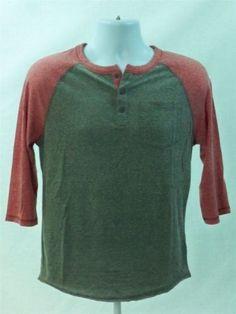 Aeropostale-Mens-Short-Sleeve-Baseball-T-shirt-Gray-Red-size-S-Aero-Tee-New