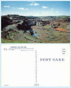 #Aerial view of iron ore mine minnesota #geology #postcard,  View more on the LINK: http://www.zeppy.io/product/gb/2/371570566420/
