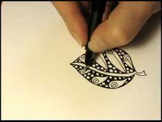How To: Zentangle Zentangle Drawings, Doodles Zentangles, Doodle Drawings, Doodle Patterns, Zentangle Patterns, Leaf Patterns, Zen Doodle, Doodle Art, Sharpie Paint Pens