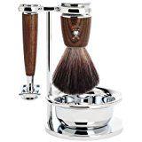 Muhle Rytmo Shaving Set with Gillette Fusion Razor and Pure Badger Brush, Ash Wood Shaving Set, Shaving Razor, Wet Shaving, Badger Shaving Brush, Vikings Blade, Gillette Fusion, Safety Razor, Beard Care, Barbers