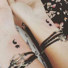 Matching ink ♡ #newink #newtattoo #semicolontattoo #semicolonproject416 #matchingtattoos #bestfriends #pretty #kittytattoo #kitty #kittytat #cute #matchingbracelets #holiday #summer #yourstoryisntoveryet #cats #instacat #instapic #littletattoos