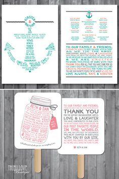 75 best wedding programs images on pinterest wedding stationery