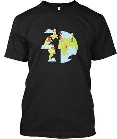 World Population Day Shirt  Black T-Shirt Front
