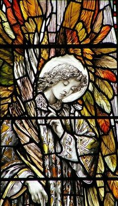 Stained glass, angel,  =) #StainedGlassChurch