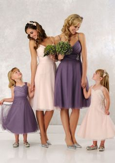 099038b02cc0 Adorable A-line Straps Tulle   Satin Tea Length Junior Bridesmaid Dresses  Svatební Účesy