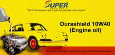 #Durashield10W40 uses premium, custom-made additives and is the most advanced conventional oil available.