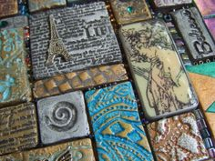 My Take on Craft - Mixed Media Mosaic tutorial  (primarily stamped clay)