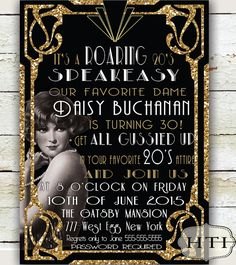 Party Invitation Template Free - 50 Elegant Party Invitation Template Free , Great Gatsby Party Invitation Get the Free Roaring 20s Birthday Party, 30th Birthday Parties, 20th Birthday, Birthday Party Invitations, Birthday Diy, Birthday Ideas, Birthday Celebration, Invites, Speakeasy Party