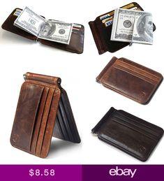 b8cb968f848ad7 New Leather Mens Bifold Wallet With Removable Slim Cardholder RFID Blocking  | Erkek çanta cüzdan | Pinterest | Wallet, Clothes ve Leather