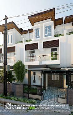 Arsitektur Desain Rumah Minimalis 3 Lantai   Lebar 7,5 meter   5 Kamar Tidur   Type 200   Hartati House   Architecchi