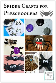 Spider Crafts for Preschoolers- This collection of wonderful activities can be used to explore nursery rhymes, Halloween books or an arachnid theme.