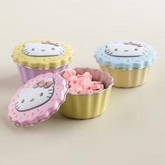 Hello Kitty Cupcake Candies Tins, Set of 3