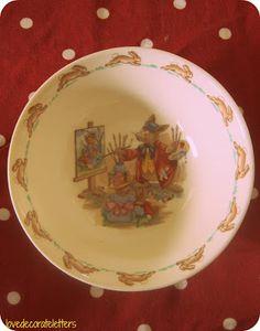 vintage bunnykins bowl by Royal Doulton