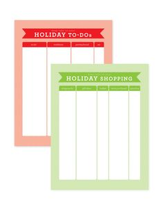 lemon squeezy: Day 9: Holiday To-Do Lists