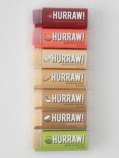 Hurraw! Raw Lip Balm - Available in 10 flavours at Husk! https://www.facebook.com/lovehusk
