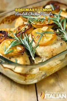 Rosemary Lemon Roasted Chicken Breasts  Moist, flavorful and miles away from ordinary. Possibly the best tasting and simplest chicken recipe ever!  http://www.theslowroasteditalian.com/2014/01/rosemary-lemon-roasted-chicken-breasts-recipe.html