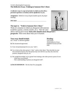 Best To Kill A Mockingbird Images  To Kill A Mockingbird Go  Free To Kill A Mockingbird Reflective Narrative Essay Writing Prompt English Essay Topics For College Students also Synthesis Example Essay  Business Plan Writers Oregon