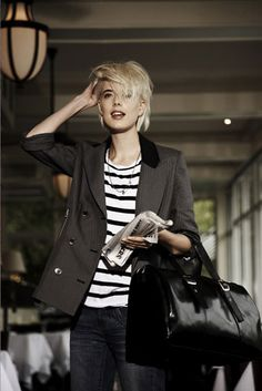 Agyness Deyn, Over The Top, Strisce, Tagli Di Capelli, Capelli Corti, Chignon, Donne, Bellezza