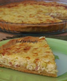 Food for thought: Τάρτες Greek Desserts, Greek Recipes, Desert Recipes, Quiche Recipes, Cookbook Recipes, Cooking Recipes, Happy Foods, Food For Thought, I Foods