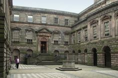 Lyme Park, courtyard. When you enter Lyme Park, you first enter the courtyard. With a courtyard, the great houses could have windows on two sides of a room to let in more light.