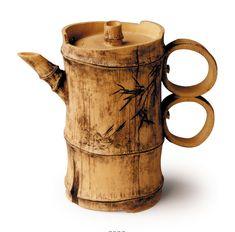 Double-ring Bamboo: original teapot by Lu Wen Xia Bamboo Art, Bamboo Crafts, Wood Crafts, Diy And Crafts, Bamboo Ideas, Clay Teapots, Bamboo Architecture, Bamboo House, Bamboo Design