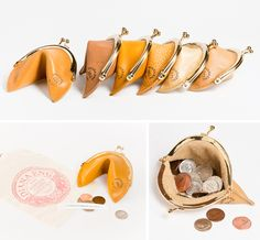 Leather & gold Fortune cookie