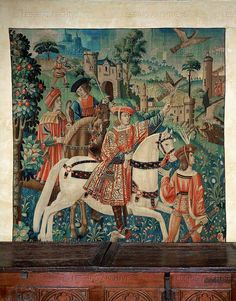 RENAISSANCE TAPESTRY 16TH   Departure for the hunt, 16th.   Musee du Moyen-Age(Cluny), Paris, France