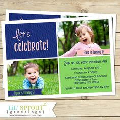 Joint Birthday Party Invitation For Twins Or Siblings On Etsy 1800