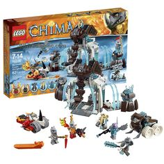 Lego Year 2015 Legends of Chima Series Battle Scene Set # 70226 - MAMMOTH'S FROZEN STRONGHOLD with Mammoth Tusk Flipper, Rogon's Rhino Roller and Rinona, Maula, Mottrot, Vardy & Rogon Figure (# of Piece: 621)