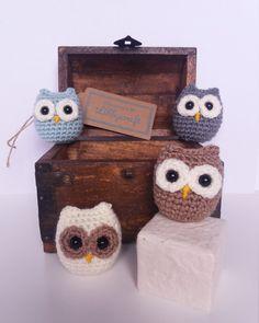 Cute Crochet Owl Keyring . Housewarming Gift . by Libbycraftmakes