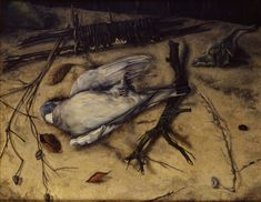 Johan Mekkink (1904–91), Stilleven met houtduif (Still-life with wood pigeon), 1943/44–1947 http://50watts.com/In-the-shadow-of-tomorrow