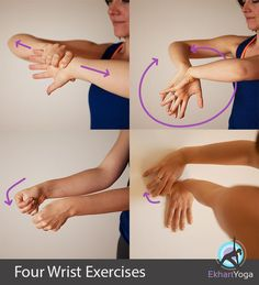 4 wrist yoga therapy exercises