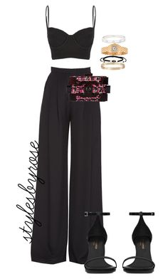 """""""Always in Black"""" by rossyjavier ❤ liked on Polyvore featuring moda, Carolina Herrera, Wildfox, Chanel, Yves Saint Laurent, Regal Jewelry y Cartier"""